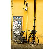 Bike In campo De Fiori Photographic Print