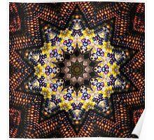 Indian Corn Kaleidoscope Art 1 Poster