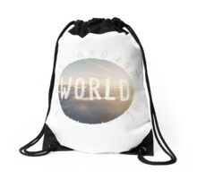 Travel Around The World Drawstring Bag