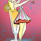 Retro Cupcake Girl Pinup by CatAstrophe