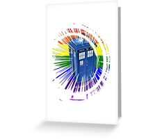 rainbow tardis Greeting Card