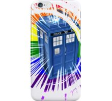 rainbow tardis iPhone Case/Skin