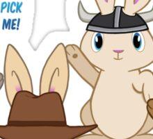 When Plot Bunnies Compete Sticker