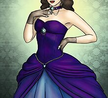 Princess in a Blue Ballgown by CatAstrophe