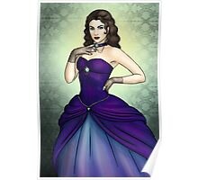 Princess in a Blue Ballgown Poster
