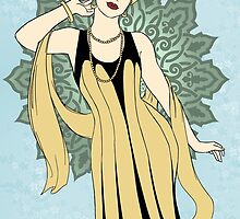 1920s Fashion Pinup  by CatAstrophe