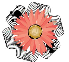 Ribbioned Flower Photographic Print