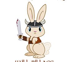 Evil Viking Plot Bunny by Catherine Dair