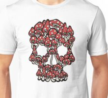 Skull made of Mushrooms Unisex T-Shirt