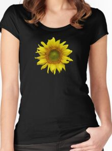 Sunny Sunflower Women's Fitted Scoop T-Shirt