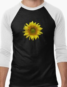 Sunny Sunflower Men's Baseball ¾ T-Shirt