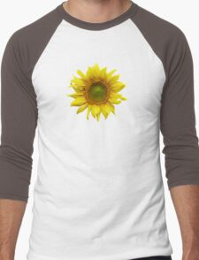 Sunny Sunflower Men's Baseball ¾ T-Shirt