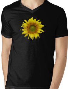 Sunny Sunflower Mens V-Neck T-Shirt