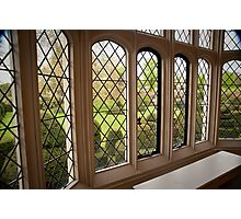 Garden Green Through the Tudor Window: Hall Place, Kent. UK. Photographic Print
