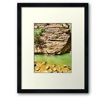 Quiet Pool on The Narrows   Framed Print
