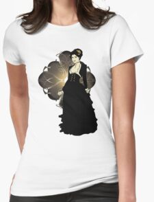 Sepia Tone Victorian Lady Womens Fitted T-Shirt
