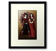 The Queen and Red Riding Hood Framed Print