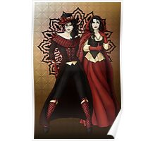 The Queen and Red Riding Hood Poster