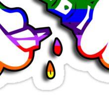 rainbow drip mickey vape Sticker
