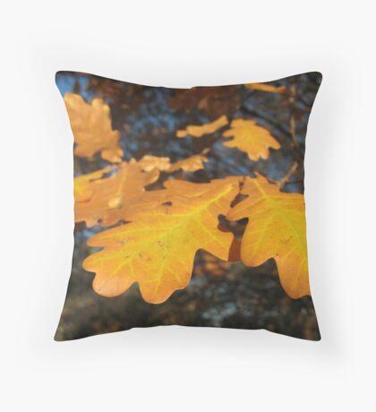 Oak Leaves Throw Pillow