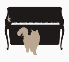 Cat and Mouse on Piano T-Shirt