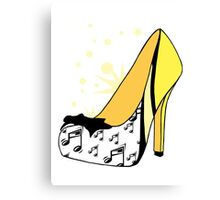 Retro Music Heels Canvas Print