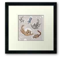 Space Cats Framed Print