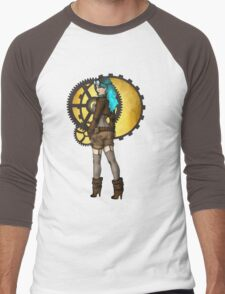 Steampunk Girl Pinup Men's Baseball ¾ T-Shirt
