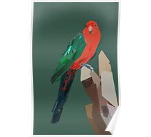 Parrot in Green Poster
