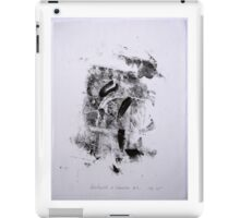 Contraintes et Abandon #4 - Monotype on Wenzhou Paper + pieces of paper sewn iPad Case/Skin