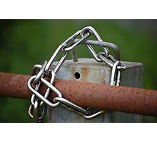 Chained Up Photographic Print
