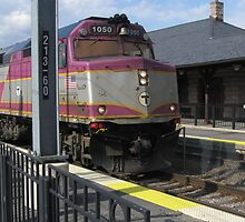 MBTA Commuter Rails with Freight Trains from canton junction by Eric Sanford