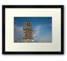 Ashridge National Trust Sign Framed Print