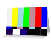 SMPTE TV Testing: Stay Tuned Greeting Card
