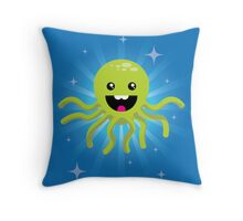 Happy Octopus Throw Pillow