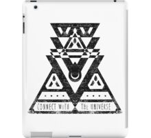 Connect With The Universe - Typography and Geometry iPad Case/Skin