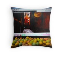 Late Night Bubbling Throw Pillow