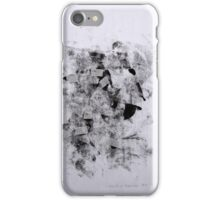 Contraintes et Abandon #7 - Monotype on Wenzhou Paper + pieces of paper sewn iPhone Case/Skin
