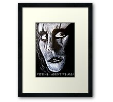 The Crow movie Fan Art - Real Love Is Forever  Framed Print