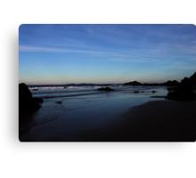 Sundown in Surf Beach Canvas Print