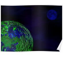 Blue Moon, Green Planet Poster