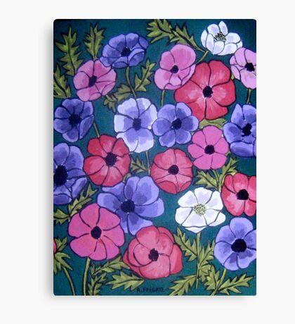 Many Coloured Anemones Canvas Print