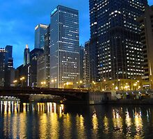 Dearborn Street Bridge at Night by reindeer