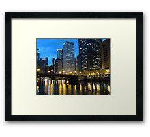 Dearborn Street Bridge at Night Framed Print