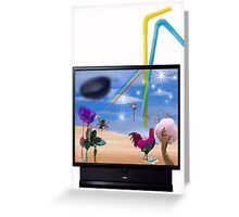 When Nothing is on TV Greeting Card