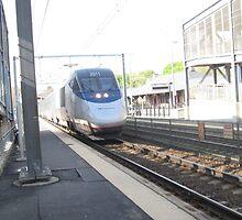 Amtrak Regional,Acellars,and MBTA Commuter Rails by Eric Sanford