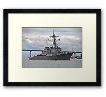 USS Decatur DDG 73 Destroyer Framed Print
