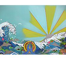 Ocean Love contemporary abstract art print Photographic Print