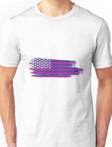 American Flag- Bisexual Pride Unisex T-Shirt