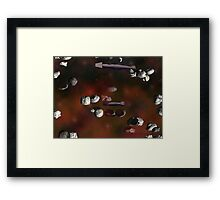 Ships in an Asteroid Field Framed Print